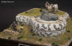 world war 2 N Scale Model Trains, Model Train Layouts, Scale Models, Bunker, Battle Of Normandy, D Day Normandy, Tank Armor, Wargaming Terrain, Military Modelling