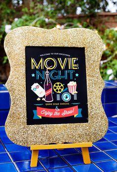 Simple & Creative Outdoor Movie Night Ideas {+ Free Party Printables}