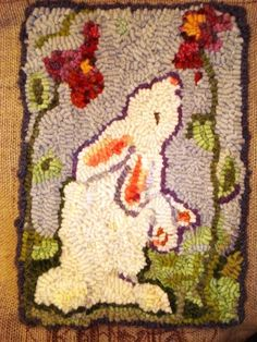 there will never be enough rabbits in my life.... I adore this sweet rug!