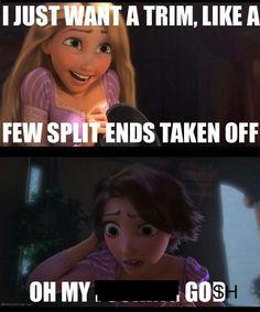 ) #disney #tangled #haircut