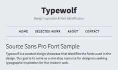 Source Sans Pro Font Sample