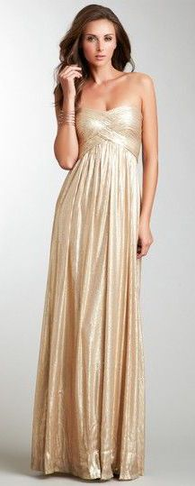 Not the right color or material, but exactly the style I want for my bridesmaids gowns