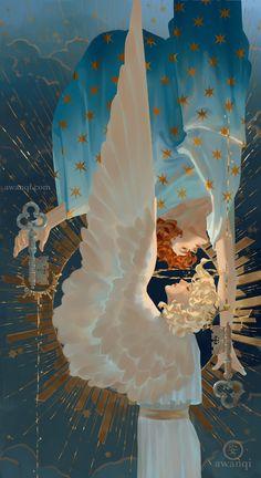 art inspo A series: sanctus Art And Illustration, Illustrations Poster, Art Inspo, Kunst Inspo, Bel Art, Fantasy Kunst, Art Watercolor, Pretty Art, Aesthetic Art