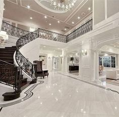 33 trendy house goals mansions bedrooms interior design - New Ideas Dream Home Design, Modern House Design, Luxury Interior, Home Interior Design, Exterior Design, Modern Mansion Interior, Beautiful Houses Interior, Luxury Rooms, House Beautiful