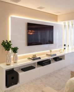 Best 20 tv room ideas for your home and remodel 1 in 2020 (With images) Modern Tv Room, Modern Tv Wall Units, Modern Living, Minimalist Living, Luxury Living, Small Living, Modern Tv Unit Designs, Modern Tv Cabinet, Modern Design