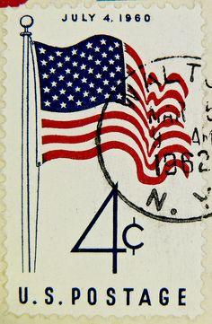 4c United States of America U.S. flag July 4. 1960