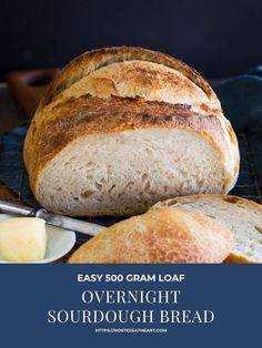 Overnight Sourdough Bread recipe is a great basic recipe to make if you are just getting started baking Sourdough bread or have been at it for years. Overnight Sourdough Bread Recipe, Sourdough Bread Starter, Sourdough Recipes, Easy Bread Recipes, Cooking Recipes, Sourdough Rolls, Healthy Recipes, Homemade Apple Pie Filling, Almond Flour Muffins