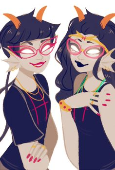 Meenah and Feferi>>>My friend Alexandra...well she might cosplay as Feferi....Hint to all ya'll I dont read homestuck