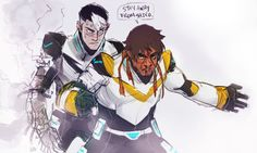 I've always seen art where it's one of the other paladins protecting Shiro. Just not Hunk. It's kinda refreshing