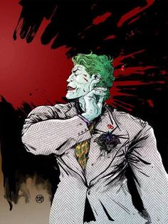 The Dark Knight III: The Master Race #1 variant cover - The Joker by Paul Pope *
