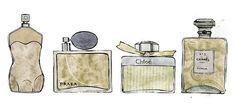Parfum. by Clare Owen Illustration.