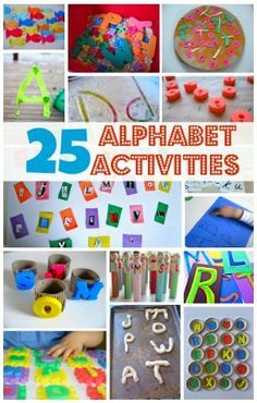 25 Fun Ways To Learn The Alphabet from No Time For Flash Cards