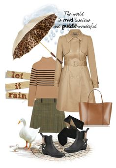 """""""Another rainy day"""" by sweetdee55 ❤ liked on Polyvore featuring Topshop Unique, City Chic, Dolce&Gabbana, Trasparenze, Burberry and Persol"""