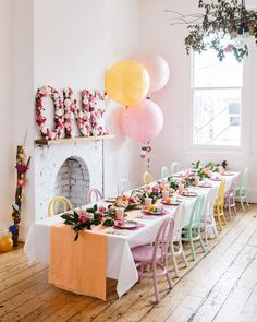 a cute one year old birthday party! (although one might be a little young for this)