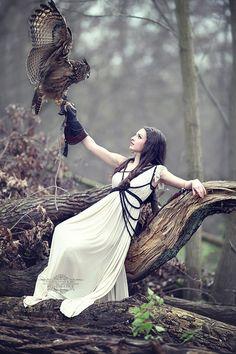 Owl. Model: Chiara  Designer: ROHMY. photo by Reinhard Block