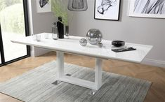 Tokyo White High Gloss Extending Dining Table with 8 Celeste Black Chairs Only White Extending Dining Table, White Dining Set, Extendable Dining Table, Patio Lounge Chairs, Fabric Dining Chairs, Leather Dining Chairs, Bedroom Furniture Sets, Dining Room Furniture, Grey Leather Chair