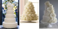 white wedding cakes look like roses   Unknown, Martha Stewart Weddings, Cotton & Crumbs