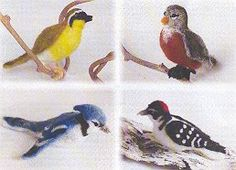 *Beautiful needle felted birds!*  I can't wait for my needle felting kit to arrive in the post!