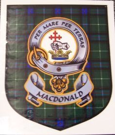 MacDonald 1 Clan Tartan Clan MacDonald 1 Badge Sticker