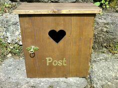"""Gartendekoration - Holzbriefkasten, Postkasten """"Shabby"""" palisander - ein Designerstück von letterbox67 bei DaWanda"""