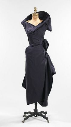 Silk cocktail dress, Charles James, 1952, American