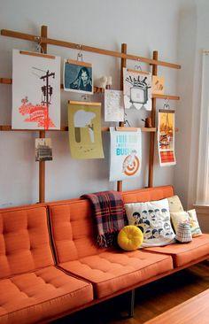 STOR DIY GUIDE: Den perfekte gallerivæg - Boligliv Undgå huller i væggen!