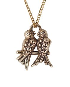 Lovebirds Charm Necklace