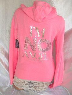 Victorias Secret Im No Angel Pink Supermodel Hoodie
