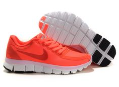 Womans Nike Free 5.0 V4 Running Shoes Orange