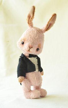 Teddy Bear stile Artist viscose Rabbit Edward  by SanaTeddyBears