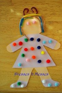 Kids can dress up an 'All about me' Doll and then answer questions about themeselves!