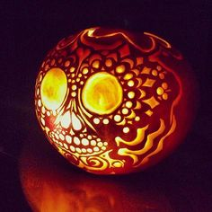 Take Pumpkin Carving to the Next Level With These Stylish Ideas: You know the drill — carve the pumpkin, light it up, and place it on your front porch.