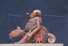 Después de años de experimentación tuvo éxito en la creación de figuras huecas con capas extremadamente finas de arcilla.