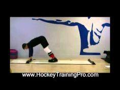 ▶ Hockey Goalie Training - Slideboard Circuit - YouTube