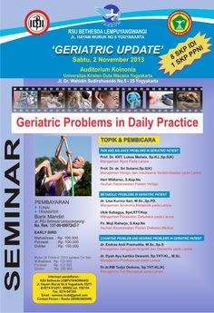 Seminar Geriatric Problems in Daily Practice http://bit.ly/Ho7s3r