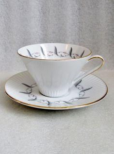 Vintage Eschenbach Bavaria Tea Cup or Demitasse and Saucer Set Mid Century   eBay