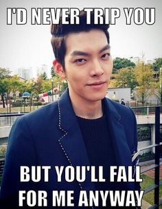 "10 K-drama & K-pop pick-up lines that are perfect for Valentine's Day. Not sure if this is accurate -- pretty sure Kim Woo Bin's character Young Do from kdrama ""Heirs"" WOULD trip someone. Pick Up Lines Cheesy, Pick Up Lines Funny, Kim Woo Bin, Asian Actors, Korean Actors, Korean Dramas, Lee Min Ho, Drama Funny, Korean Shows"
