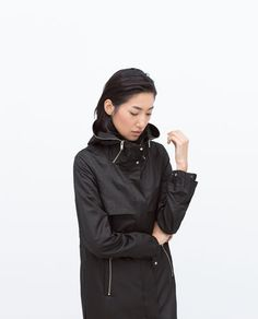 COMBINED KNIT ZIPPED PARKA