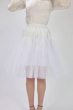 White Tulle Skirt, White Skirts, White Dress, 1950s Skirt, Bridesmaid Skirts, Vintage Inspired Wedding Dresses, 1950s Outfits, 1950s Fashion, Flare Skirt