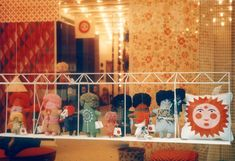 Textiles & Objects shop in Manhattan display Marilyn Neuhart's embroidered dolls. Alexander Girard, Our Baby, Softies, Vintage Dolls, Folk Art, Objects, Textiles, Display, Toys