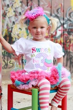 sweet birthday number pettiskirt outfit