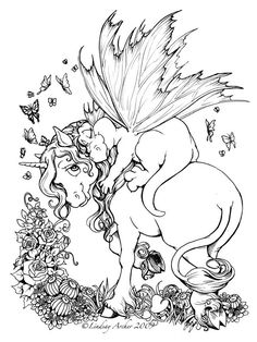snuzzles by linzarcher on deviantart unicorn coloring pagesadult - Fantasy Coloring Pages Adults
