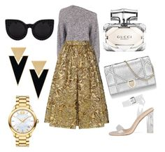 """""""silver and gold"""" by memowitta on Polyvore featuring T By Alexander Wang, Prada, Yves Saint Laurent, Movado and Gucci"""