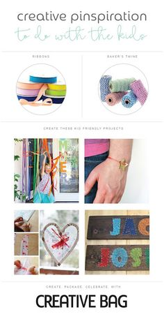Creative Pinspiration to do with the kids using ribbons and baker's twine
