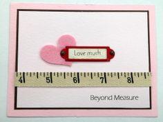 """Love Much. Beyond Measure"" Card Creative Impressions Ribbon/Embellishments/Felt Shapes/Frames"