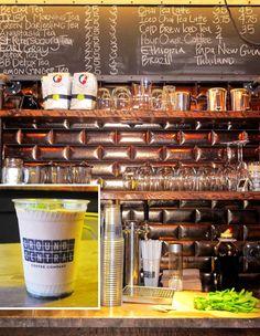 Ground Central Coffee Company's minty iced coffee mojito.