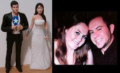 Custom Superheroes Wedding Cake Toppers Figure set by Jsebold87