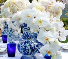 Blue and Yellow Wedding Ideas for Centerpiece
