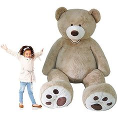 Nspire Toys Oversize Giant Teddy Bear Jumbo Plush Gigantic Stuffed Animal about … – Monkey Stuffed Animal Huge Teddy Bears, Giant Teddy Bear, Big Bear, Costco Bear, Hugs And Cuddles, Girly Girl Outfits, All Family, Pillows