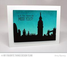 Adventure is Calling, London Skyline Die-namics - Amy Rysavy  #mftstamps